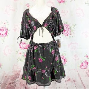 NEW For Love And Lemons Every Rose Mini Dress M